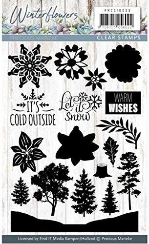 Carimbo de silicone - Winter Flowers - Warm Wishes - Precious Marieke