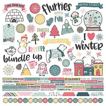 Adesivo 30x30 Freezin' Season - Simple Stories