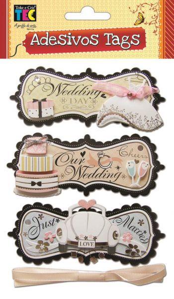 Adesivo Tags - Casamento - TEC