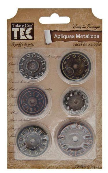 Apliques Metálicos - Faces de Relógio - TEC