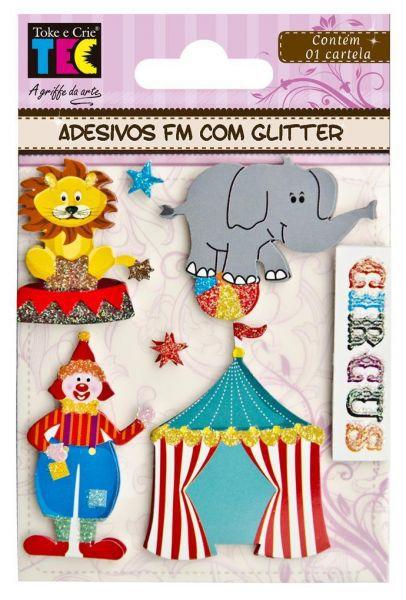 Adesivo Fm com Glitter - Circo - TEC