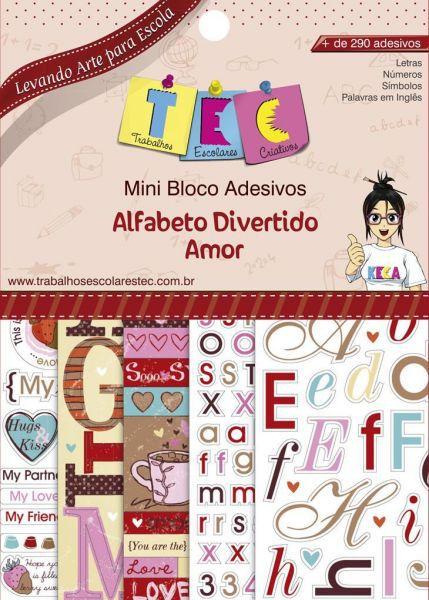 Mini Bloco Adesivos Alfabeto Divertido Amor - TEC