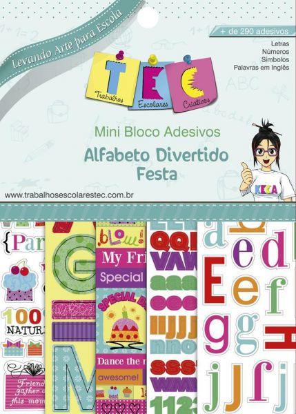 Mini Bloco Adesivos Alfabeto Divertido Festa - TEC