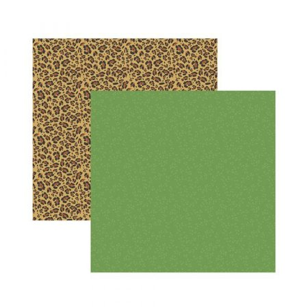 Papel para scrapbook - 30x30 - Dupla Face - Meu Safari Estampas - TEC