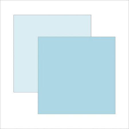 Papel para scrapbook - 30x30 - Dupla Face - Azul Bebê - TEC