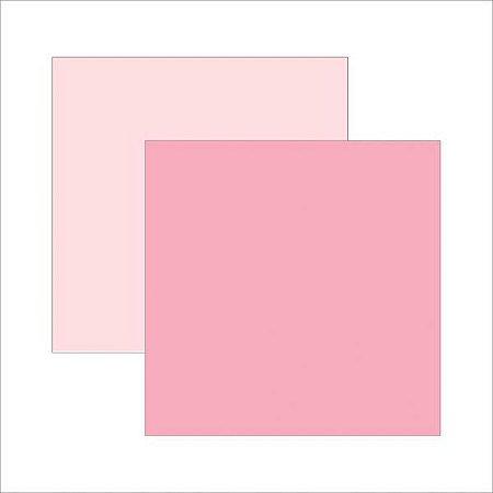 Papel para scrapbook 30x30 - Dupla Face - Rosa Bebê - TEC