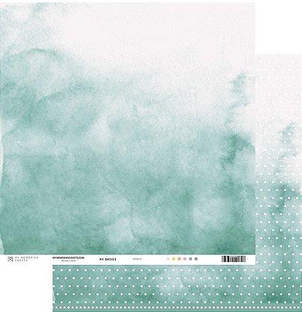 Papel scrapbook 30x30 My Basics - Verde - My Memories Crafts