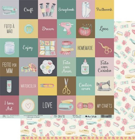 Papel scrapbook 30x30 My Crafts - My Hobbies - My Memories Crafts