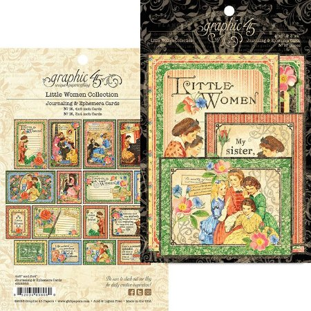 Die Cuts Little Women - Journaling & Ephemera Cards - Graphic 45