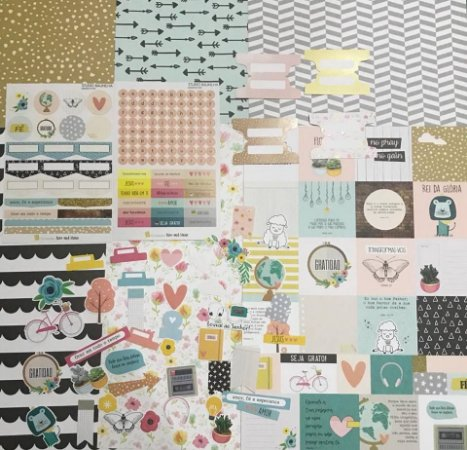 Kit Completo Rise and Shine para Planners e Scrapbooking - Bible Journaling - Studio Baunilha