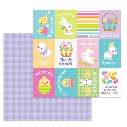 Papel scrapbook 30x30 - Hoppy Easter - Sunday Dress - Doodlebug