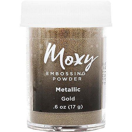 Pó de emboss Gold Metallic - Moxy - American Crafts