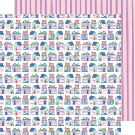 Papel para scrapbook - 30x30 - Dupla Face - Stay Sweet - Cozy Cottages - Amy Tangerine