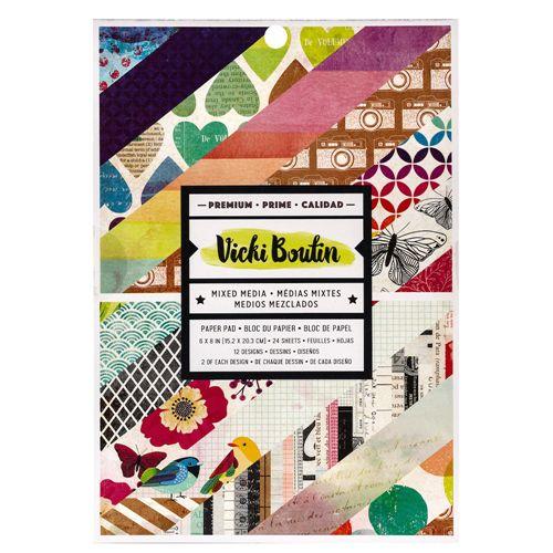 Bloco 15x20 - Color Kaleidoscope - Vicki Boutin - American Crafts