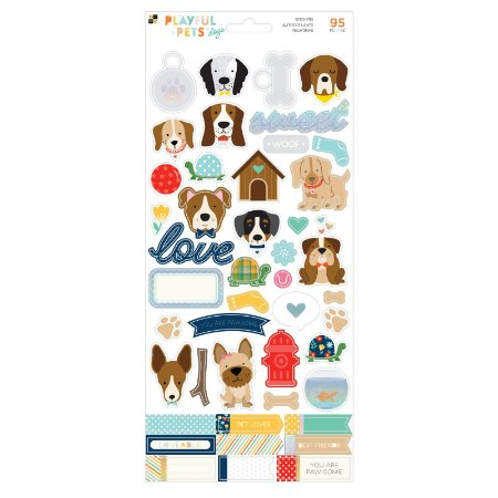 Adesivo 15x30 - Playful Pets Dogs - DCWV