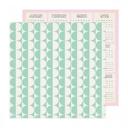 Papel para scrapbook - 30x30 - Dupla Face - Weekend - Sunny Days - Crate Paper