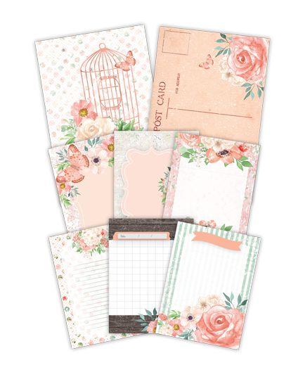 Kit de cards Aurora - Shabby Dreams - Juju Scrapbook