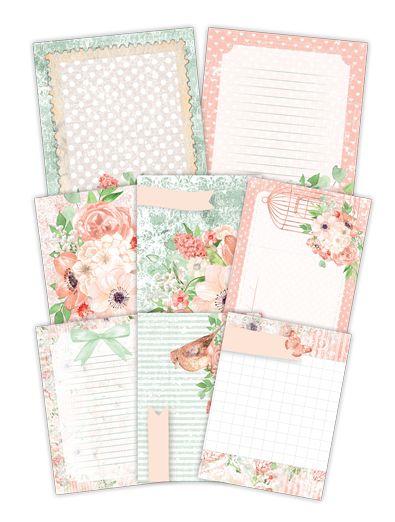 Kit de cards Buquê de Flores - Shabby Dreams - Juju Scrapbook