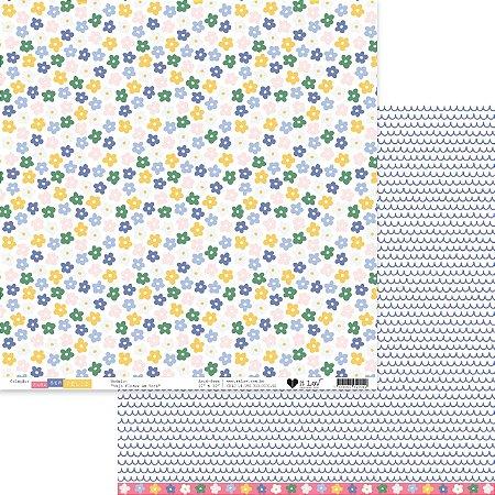 Papel scrapbook 30x30 Vejo Flores em Você- Para ser Feliz - It Lov