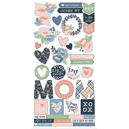 Adesivo 15x30 - Moms Day Collection- Simple Stories
