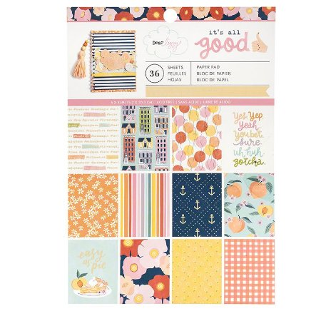 Bloco 15x20 - Its all Good Collection - com Foil - American Crafts