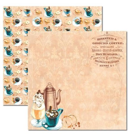 Papel scrapbook 30x30 Café 2 - Arte Fácil