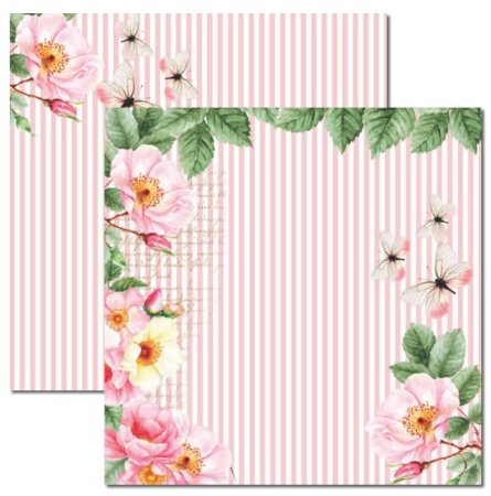 Papel scrapbook 30x30 Rose e Mint 3 - Arte Fácil