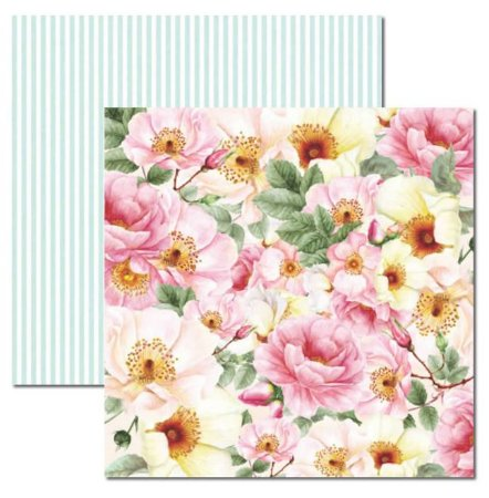 Papel scrapbook 30x30 Rose e Mint 2 - Arte Fácil