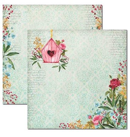 Papel scrapbook 30x30 Le Jardin 3 - Arte Fácil