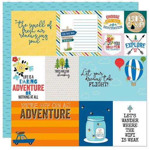 Papel para scrapbook - 30x30 - Dupla Face - Let's Go On An Adventure - Bella BLVD