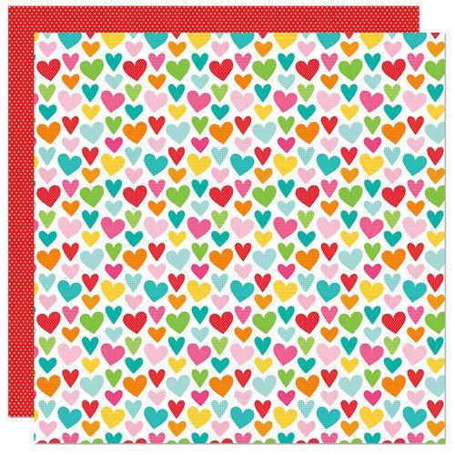 Papel para scrapbook - 30x30 - Dupla Face - Home Sweet Home - Corações - Bella Blvd