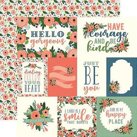 Papel Scrapbook - Flora n. 2 - Magnolia Journaling Cards  - Carta Bella