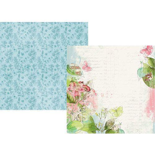 Papel para scrapbook 30x30 - Dupla Face - Simple Vintage Botanicals - Shine Bright - Simple Stories