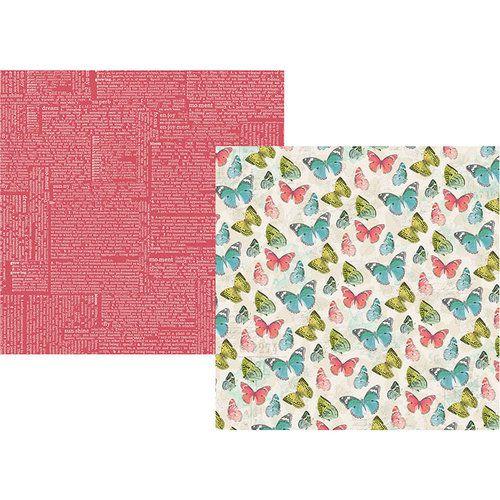 Papel para scrapbook 30x30 - Dupla Face - Simple Vintage Botanicals - Hello Happy - Simple Stories