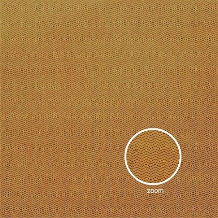 Papel para Scrapbook - Face Simples - Hand Draw Kraft - Chevron/ZigZag P - Papelero