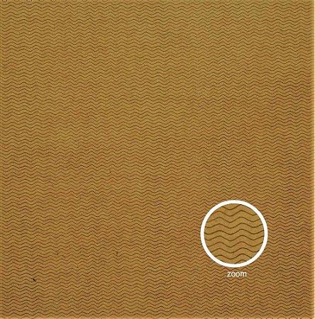 Papel para Scrapbook - Face Simples - Hand Draw Kraft - Ondulado/Waved P - Papelero