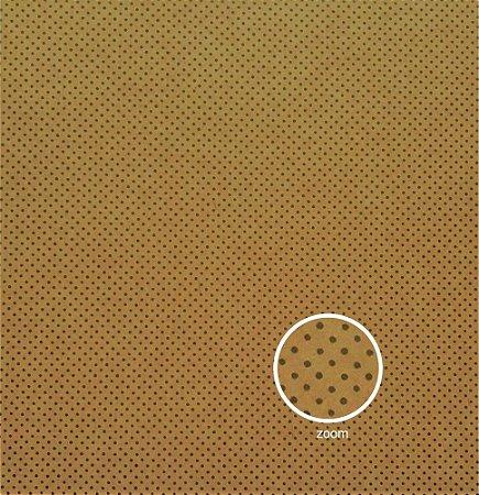 Papel para Scrapbook - Face Simples - Hand Draw Kraft - Pontilhado/Dotted Fechado - Papelero