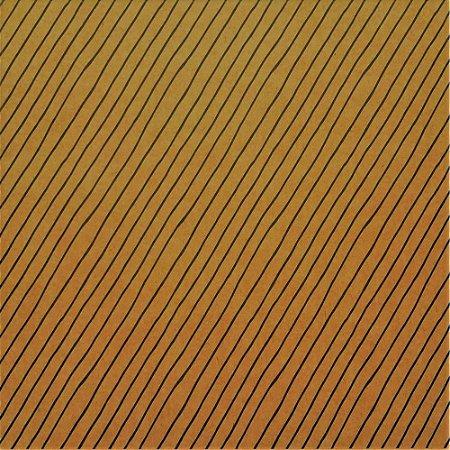 Papel para Scrapbook - Face Simples - Hand Draw Kraft - Listrado/Striped G - Papelero