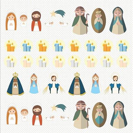 Papel para Scrapbook - Dupla Face  - Devoção - Natividade  - Papelero