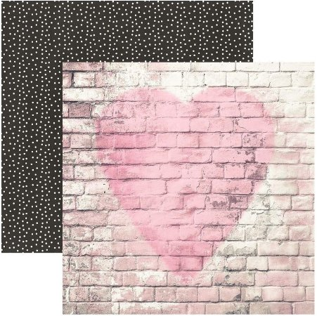 Papel scrapbook 30x30 Romance - Love Story - Amor - Simple Stories
