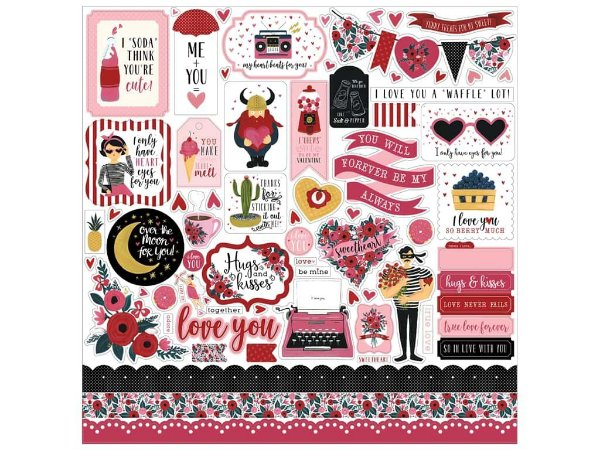 Adesivo 30x30 - Hello Sweetheart - Amor - Carta Bella