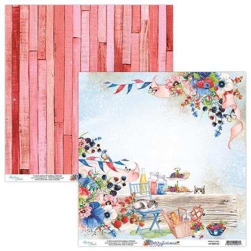 Papel para scrapbook - 30x30 - Dupla Face - Berrylicious - MT-BER - 03 - Mintay by Karola Witczak