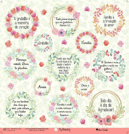 Papel scrapbook 30x30 My Blessing - My Prayer 04 - My Memories Crafts