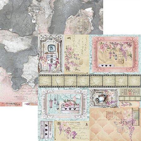 Papel para scrapbook - 30x30 - Dupla Face - Coleção Essence of Life - Folha 07 - EOL07 - Carina Sartor