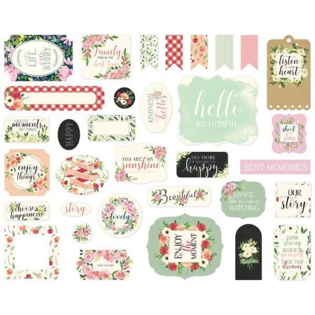 Die Cuts - Ephemera Cardstock  - Botanical Garden - Carta Bella