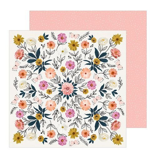Papel para scrapbook 30x30 - Dupla Face - All Heart - Wild - Crate Paper