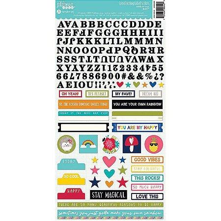 Adesivo 15x30 - Alfa + Figuras - Rainbow Roux - Jillibean - Hampton Art