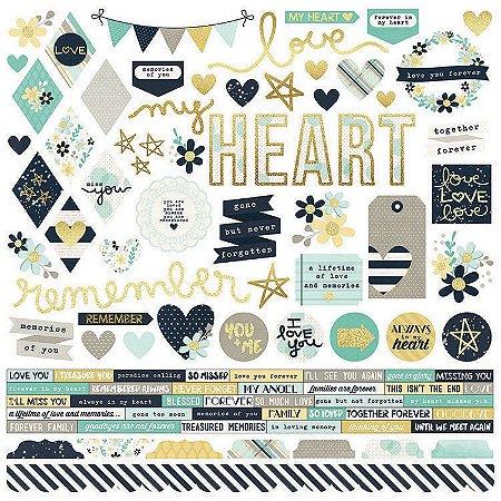 Adesivo 30x30 - Heart - Simple Stories