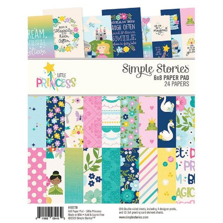 Bloco 15x20cm - Little Princess - Simple Stories