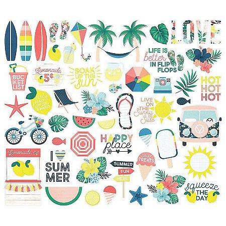 Die Cuts - Sunshine and Blue Skies - 55 peças - Simple Stories